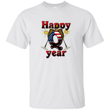 Load image into Gallery viewer, White Happy Q Year Q/Qanon T-Shirt