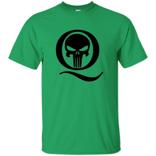Load image into Gallery viewer, Green Q Skull Q/Qanon T-shirt