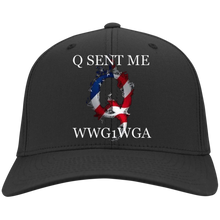 Load image into Gallery viewer, Black Q Sent Me WWG1WGA Q/Qanon Hat