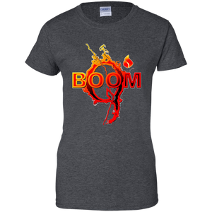 Charcoal Grey Qanon Q Boom T-shirt