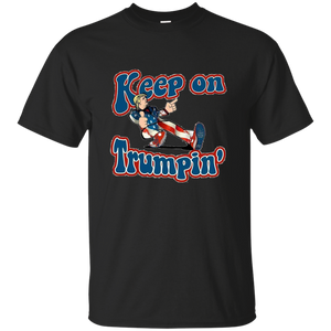 Black Trump Keep On Trumpin Kids T-shirt