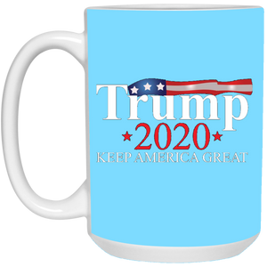 Turquoise Trump 2020 Keep America Great Mug