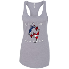Load image into Gallery viewer, Grey Q Sent Me WWG1WGA Q/Qanon Tank Top