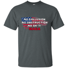 Load image into Gallery viewer, Charcoal Grey Trump - No Collusion No Obstruction No Sh*t MAGA T-shirt