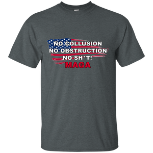 Charcoal Grey Trump - No Collusion No Obstruction No Sh*t MAGA T-shirt