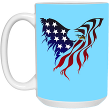 Load image into Gallery viewer, Light Blue Amercian Flag Eagle Mug