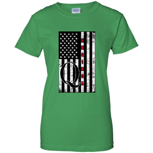 Green Qanon WWG1WGA Flag Women's T-shirt