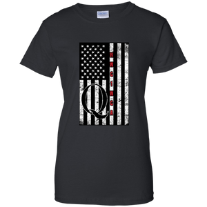 Black Qanon WWG1WGA Flag Women's T-shirt