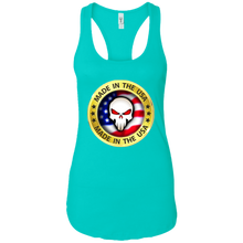 Load image into Gallery viewer, Turquoise Joe M Qanon Logo Tank Top
