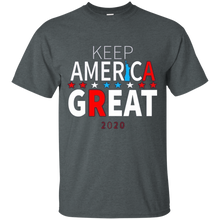 Load image into Gallery viewer, Dark Grey Trump - Keep America Great T-shirt