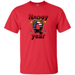 Red Happy Q Year Q/Qanon T-Shirt