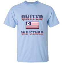 Load image into Gallery viewer, Light Blue Qnited We Stand Q/Qanon T-shirt
