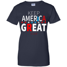 Load image into Gallery viewer, Navy Blue Trump - Keep America Great T-shirt