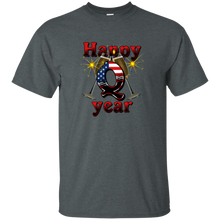 Load image into Gallery viewer, Dark Heather Happy Q Year Q/Qanon T-Shirt
