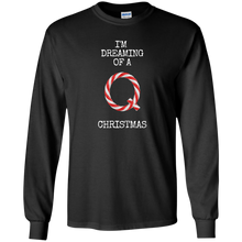 Load image into Gallery viewer, I'm Dreaming Of A Q Christmas Men's Long Sleeve Shirt