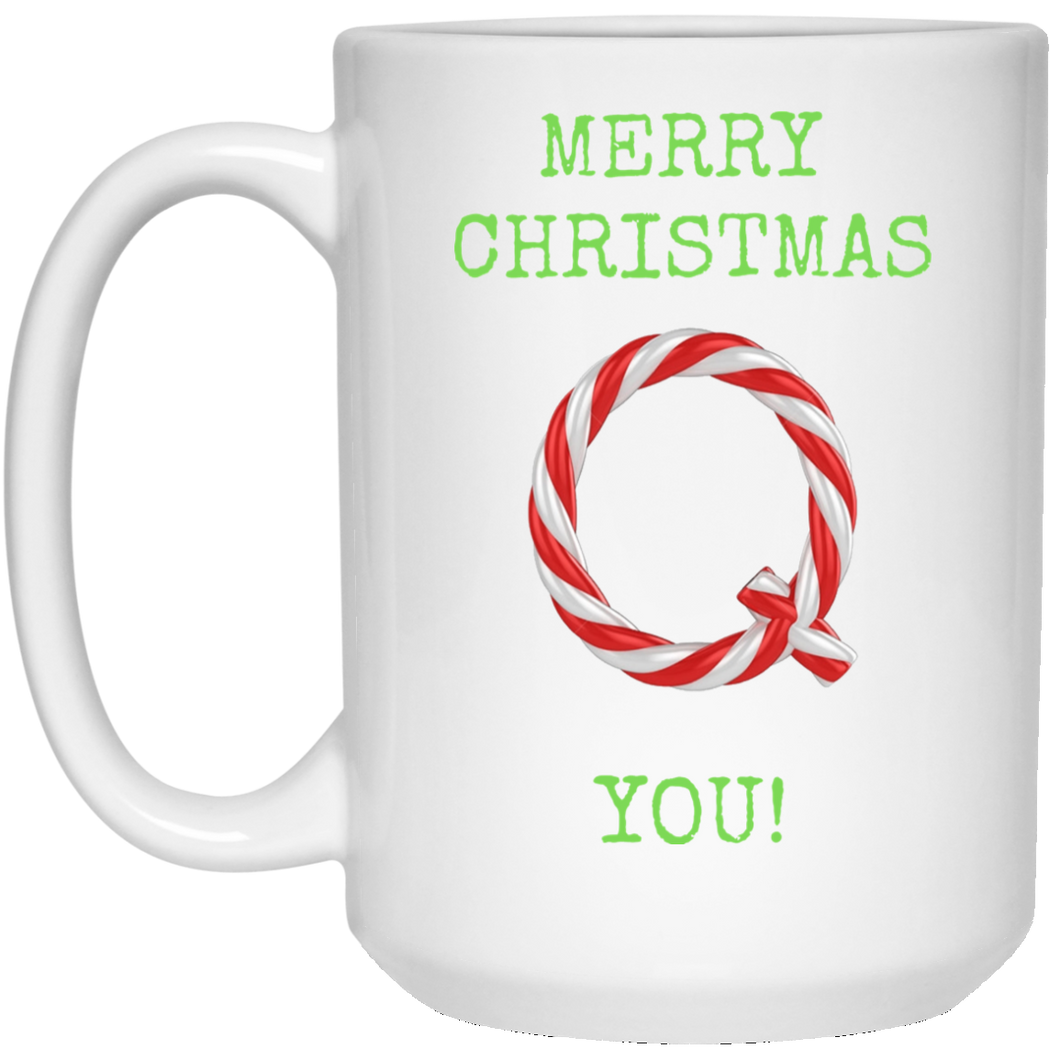Merry Christmas Q You Mug - Green