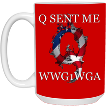 Load image into Gallery viewer, Red Q Sent Me WWG1WGA Q/Qanon Ceramic Mug