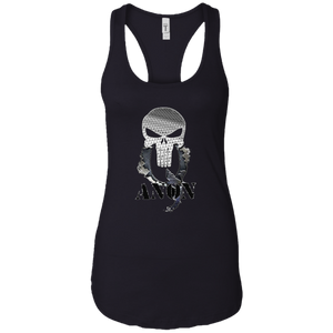 Black Qanon Punisher Skull Tank-top