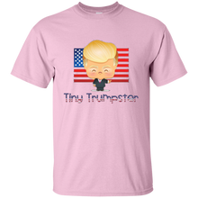 Load image into Gallery viewer, Light Pink Trump Tiny Trumpster Kids T-shirt