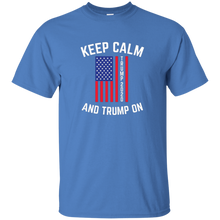 Load image into Gallery viewer, Blue Keep Calm-Trump On Trump T-shirt
