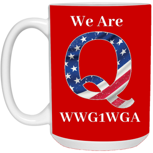 Red We Are Q WWG1WGA Mug