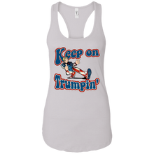 Load image into Gallery viewer, White Keep On Trumpin Tank Top