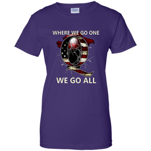 Purple Q WWG1WGA Q/Qanon T-shirt