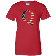 Load image into Gallery viewer, Red Q American Flag Qanon/Q T-shirt