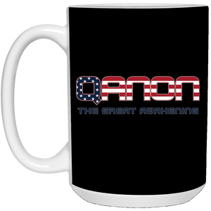 Black Qanon The Great Awakening Mug