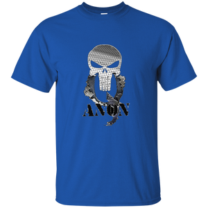 Royal Blue Qanon Punisher Skull T-shirt