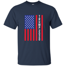 Load image into Gallery viewer, Navy Blue Trump 2020 Flag Men's T-shirt