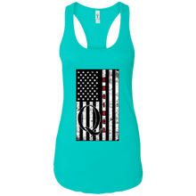 Load image into Gallery viewer, Turquoise Qanon WWG1WGA Flag Women's Tank Top