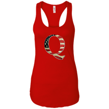 Load image into Gallery viewer, Red Q American Flag Qanon/Q Tank Top