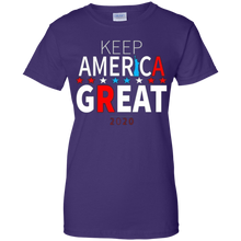Load image into Gallery viewer, Purple Trump - Keep America Great T-shirt