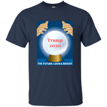 Load image into Gallery viewer, Navy Blue Trump 2020 The Future Looks Bright T-shirt