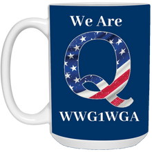 Load image into Gallery viewer, Royal Blue We Are Q WWG1WGA Mug