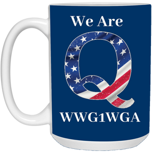 Royal Blue We Are Q WWG1WGA Mug