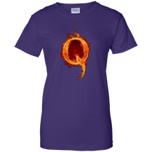 Load image into Gallery viewer, Purple Qanon Q On Fire T-shirt