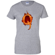 Load image into Gallery viewer, Grey Qanon Q On Fire T-shirt