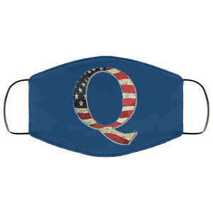 Qanon Q American Flag Face Mask