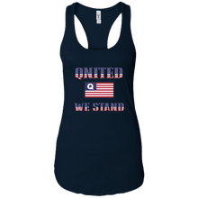 Load image into Gallery viewer, Navy Blue Qnited We Stand Q/Qanon Tank Top