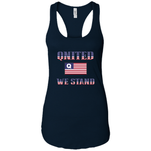 Navy Blue Qnited We Stand Q/Qanon Tank Top