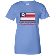 Load image into Gallery viewer, Light Blue Qnation Q/Qanon T-shirt