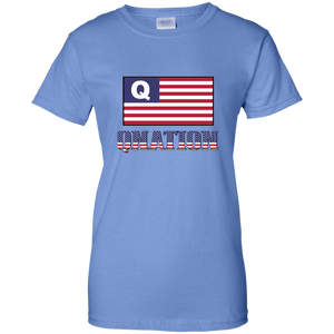 Light Blue Qnation Q/Qanon T-shirt