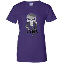 Load image into Gallery viewer, Purple Qanon Punisher Skull T-shirt