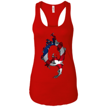 Load image into Gallery viewer, Red American Flag Flame Qanon/Q Tank Top