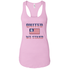 Load image into Gallery viewer, Light Pink Qnited We Stand Q/Qanon Tank Top