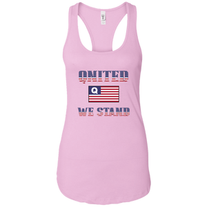Light Pink Qnited We Stand Q/Qanon Tank Top