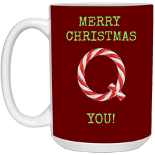 Load image into Gallery viewer, Merry Christmas Q You Mug - Green