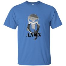 Load image into Gallery viewer, Blue Qanon Punisher Skull T-shirt